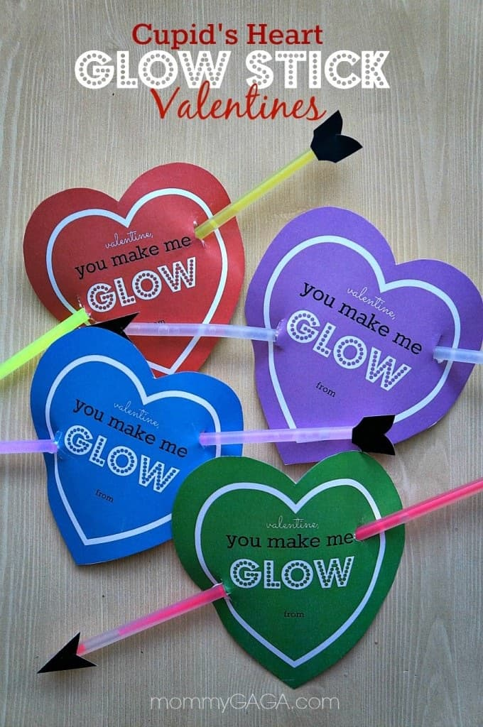 Cupid's heart glowstick Valentines