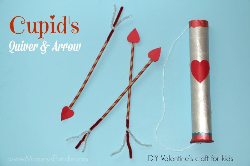 Cupid's quiver and arrow