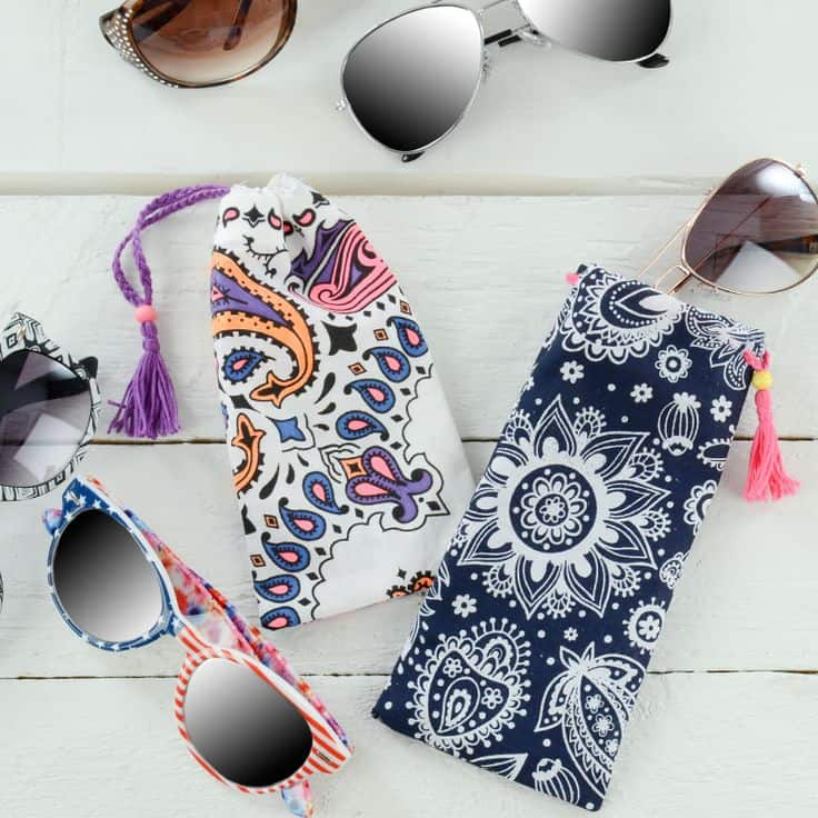 DIY Bandana Sunglasses Case