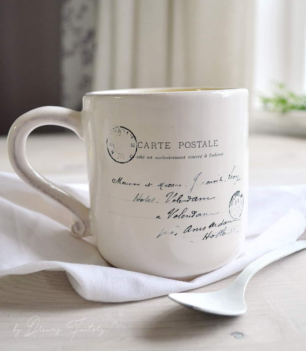 Decal coffee mug