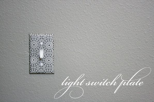 Decoupage light switch plate