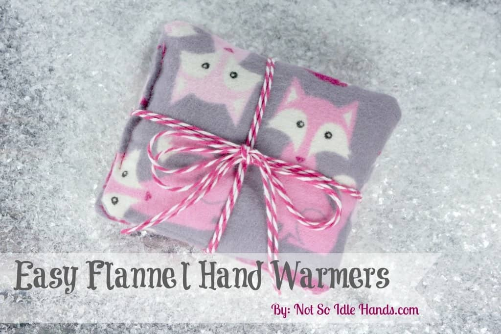 Easy flannel hand warmers