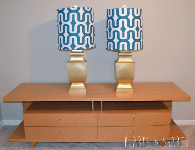 Fabric lampshade