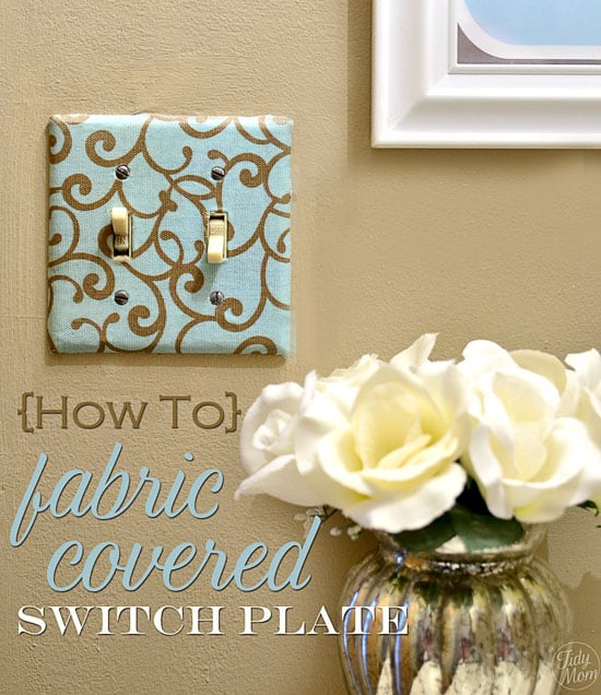 Fabric light switch plate
