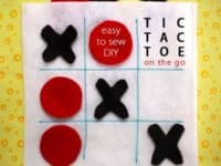 Felt Tic Tac Toe game 200x150 15 Easy Sewing Projects for Kids