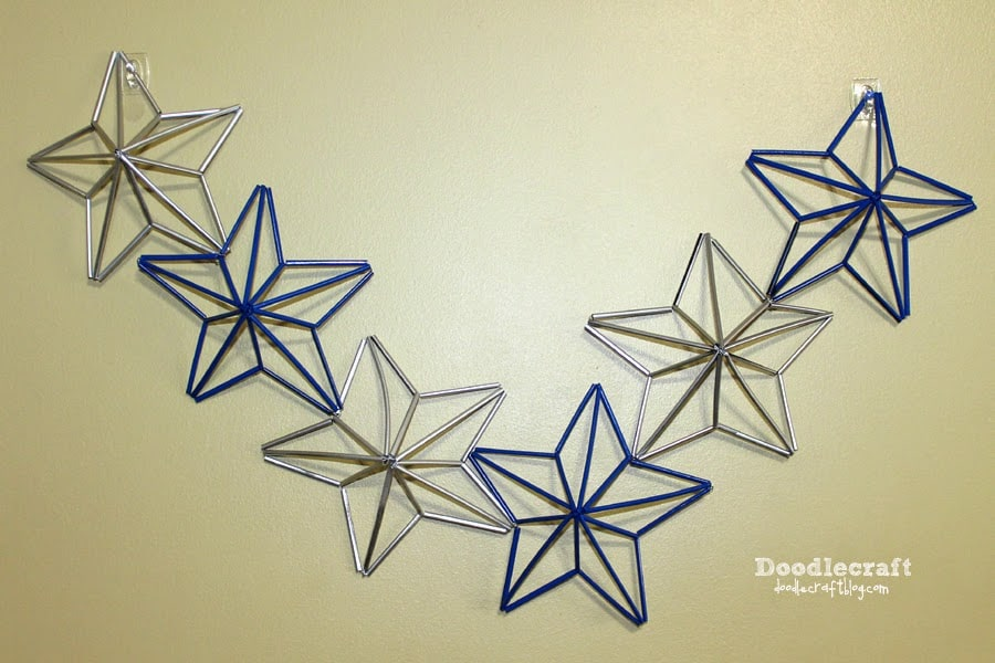 Five point straw stars