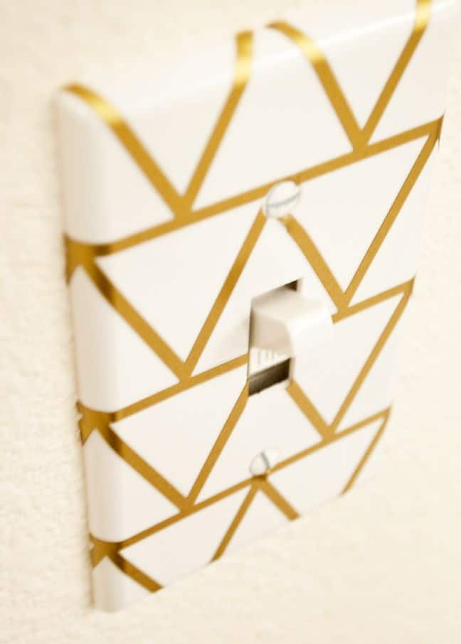 Geometric light switch plate