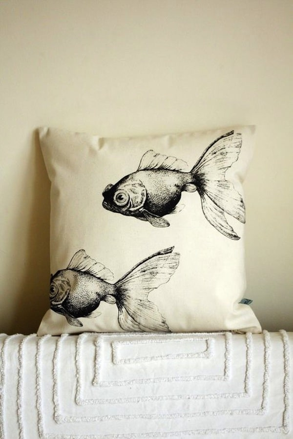 Gold fish pillows