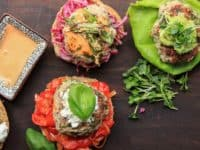 Juicy turkey burgers with sauteed tomatoes basil and ricotta 200x150 Herbalicious: Mouth Watering Basil Based Foods