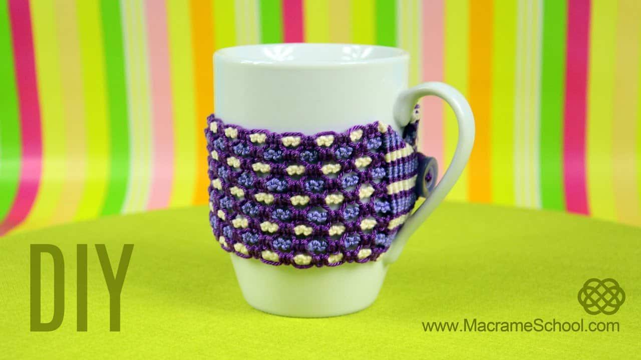 Macrame mug warmer