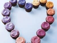 Mini cupcake ombre heart 200x150 Adorable Valentine's Day Cupcake Designs