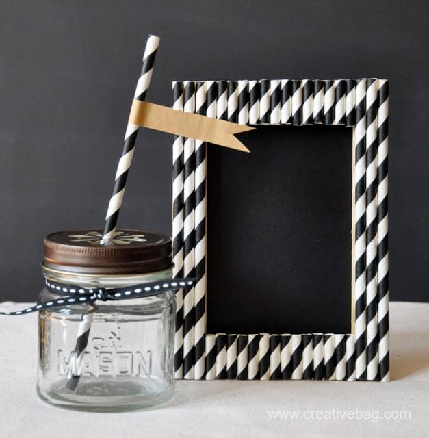 Monochrome straw frame