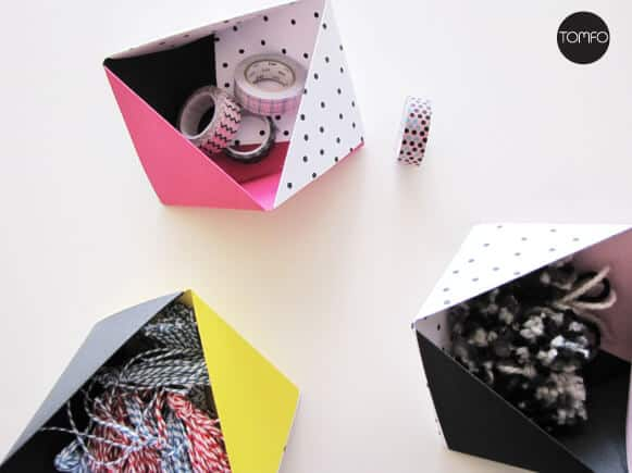 Origami stationary boxes