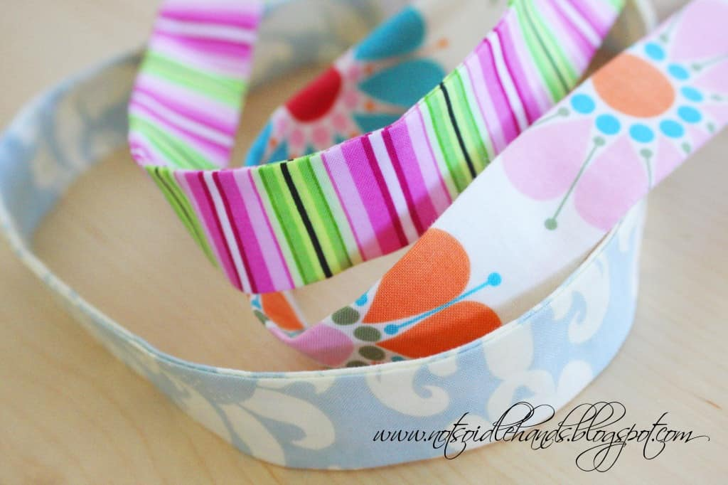 Pretty fabric headbands