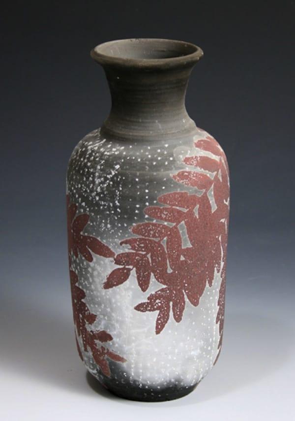 Screen printed ceramic vases