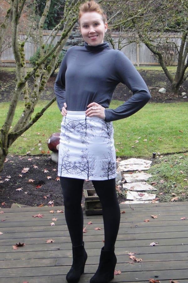 Screen printed tree skirt