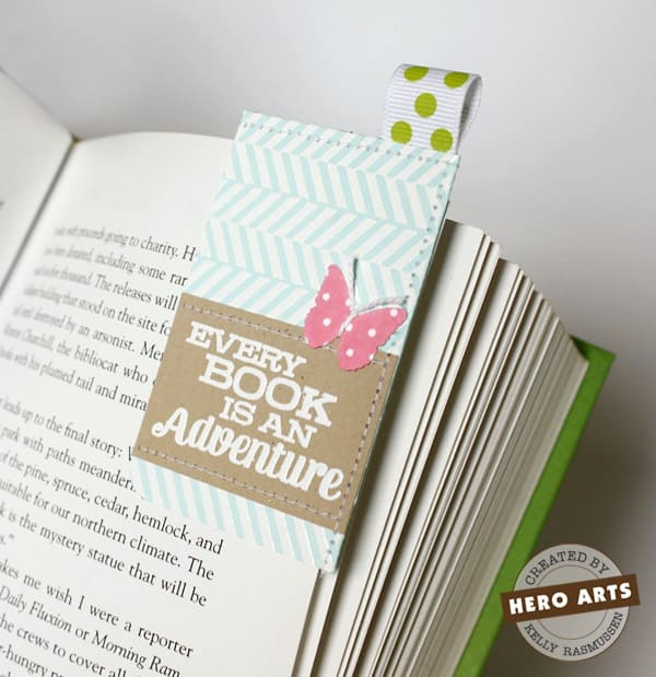 Sewn paper bookmarks