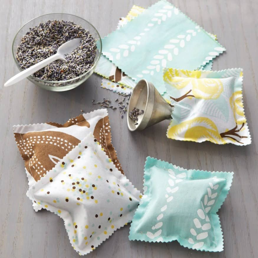 Sewn scented sachets