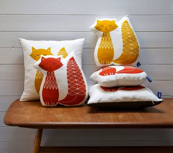 Shaped screen printed pillows