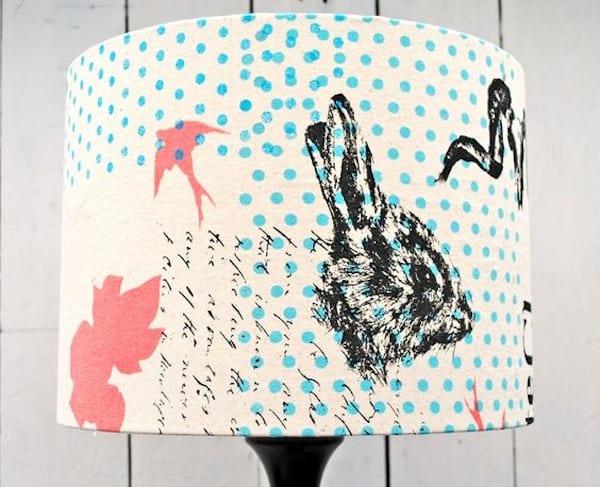 Silk screen lamp shade