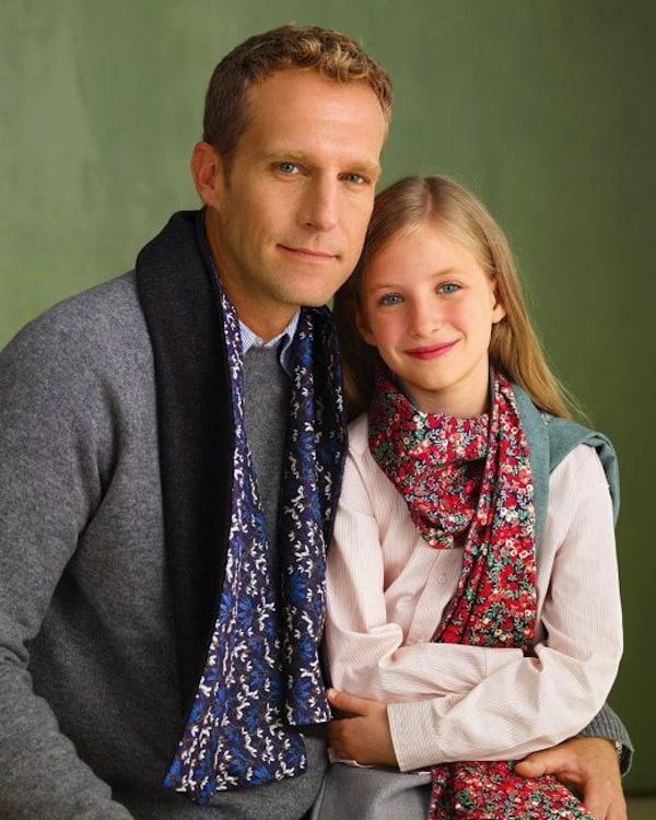 Simple reversible scarves