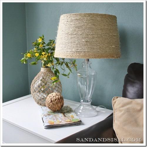 Sisal lampshade