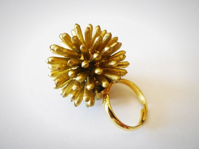 Spiky starburst ball ring