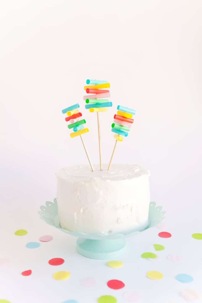 Straw cake toppers