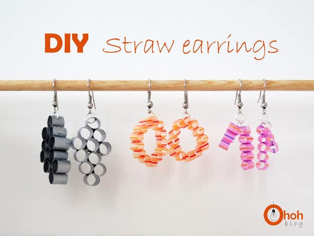 Straw earrings