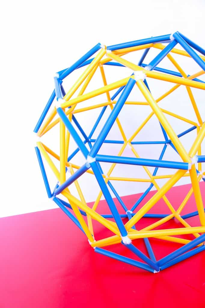 Straw geodesic dome