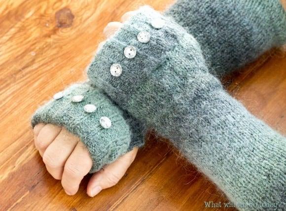 Sweater fingerless gloves