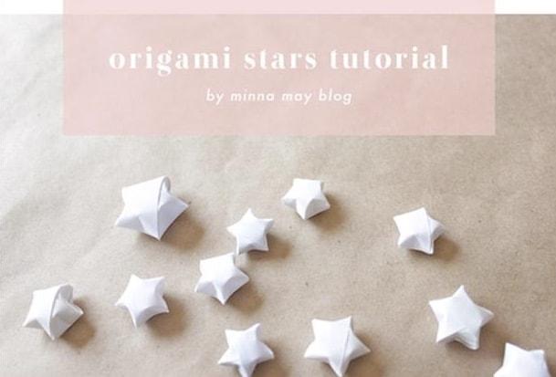 Tiny origami stars
