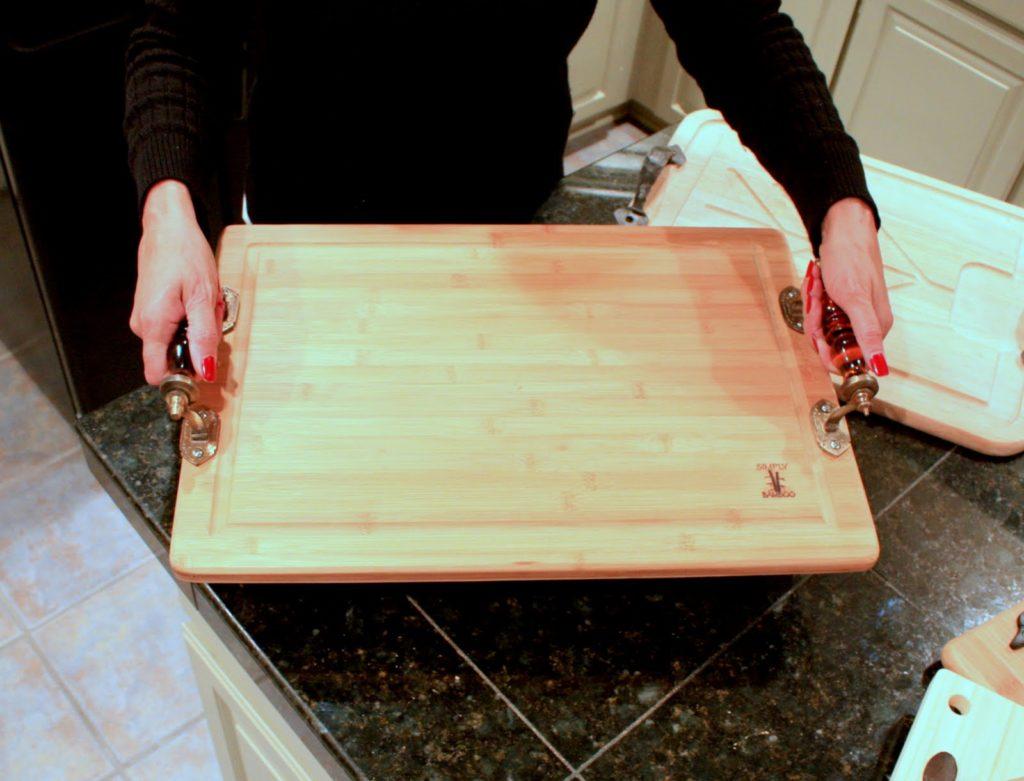 Tray cutting board