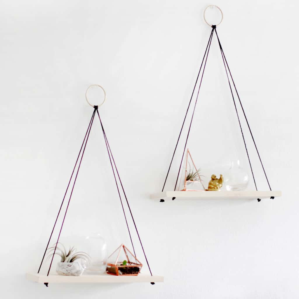 Triangle hanging shelves