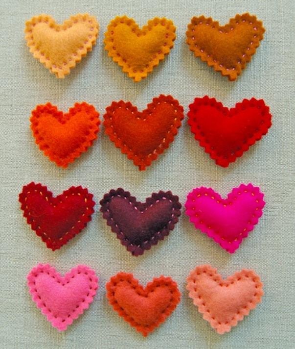 Valentine's heart pins