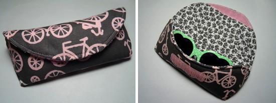Velcro glasses case