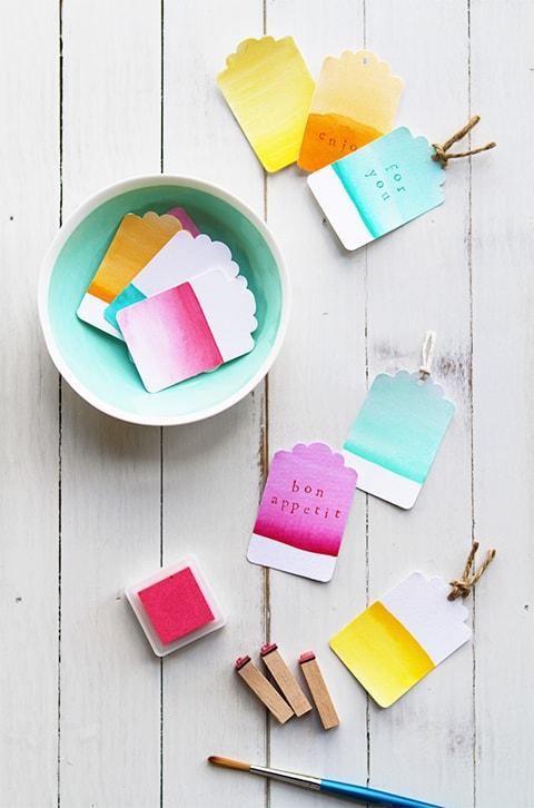 Watercolor tags