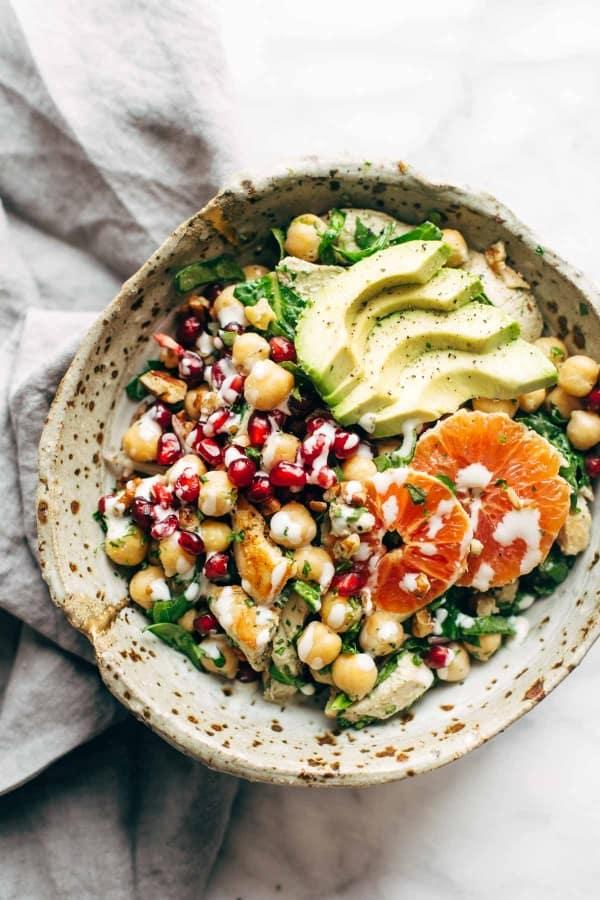 Winter spa salad
