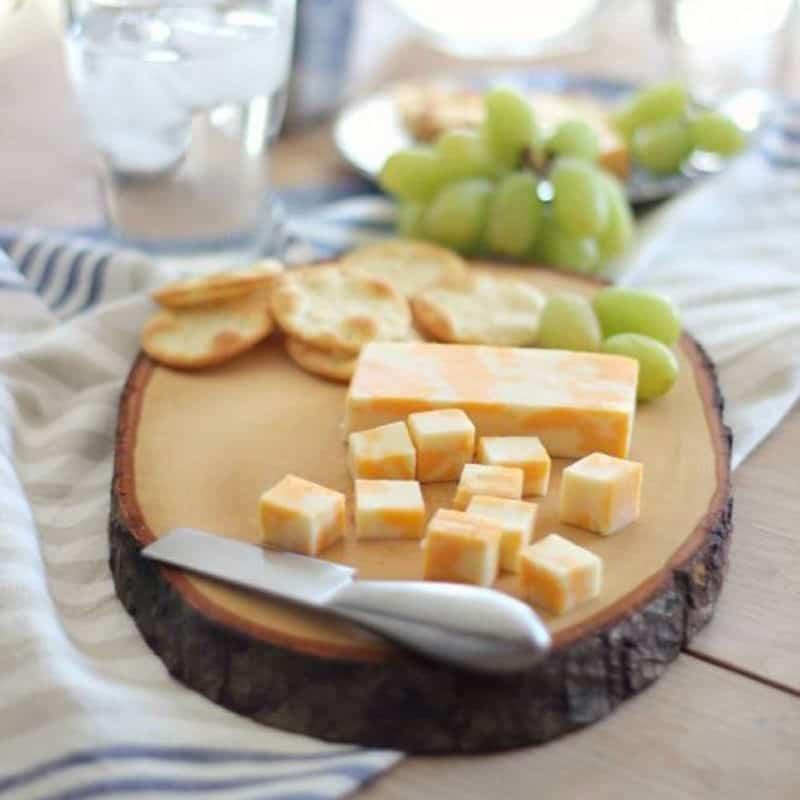 Wood slice cutting board