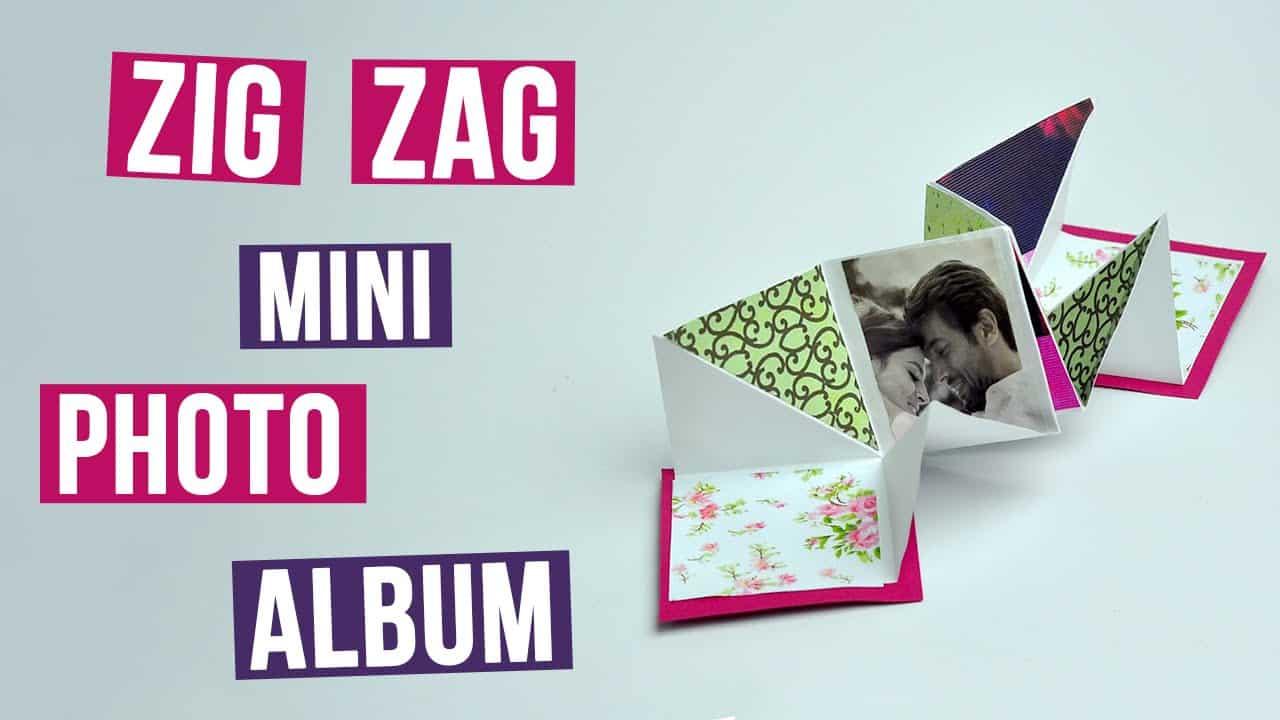 Zig-zag photo album