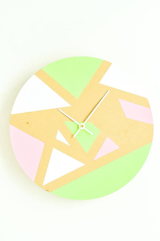 15 minute geometric clock