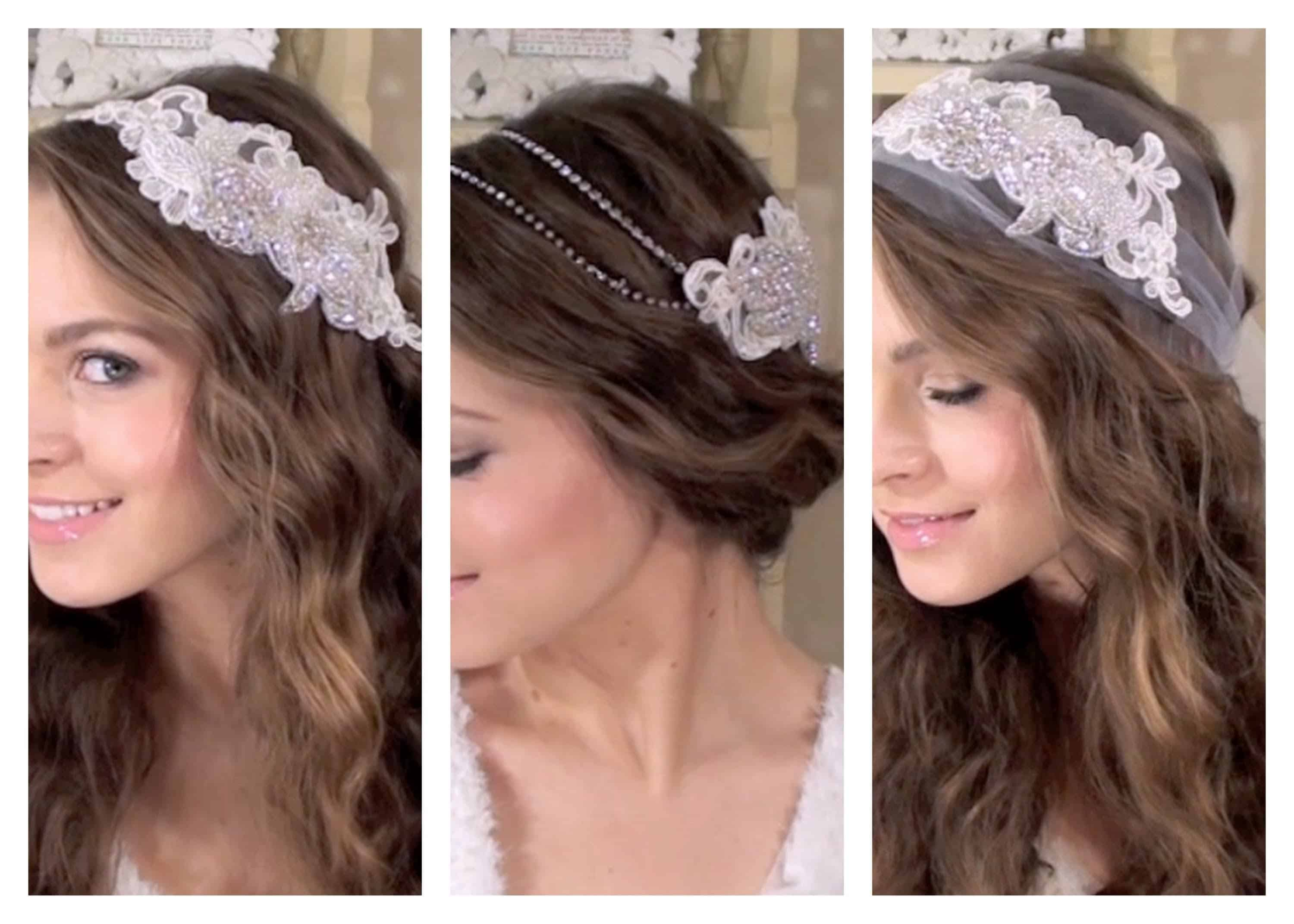 Boho bridal applique hair accessories