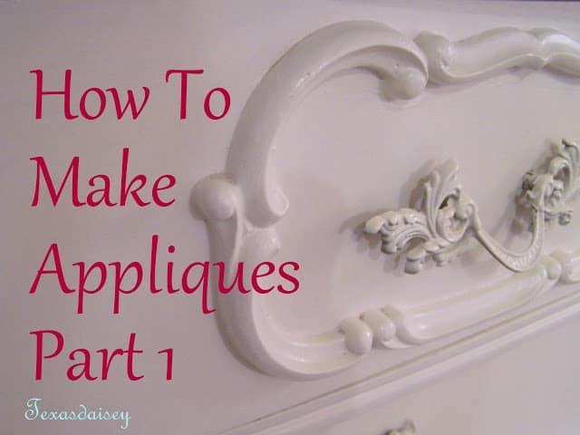 Clay furniture appliques