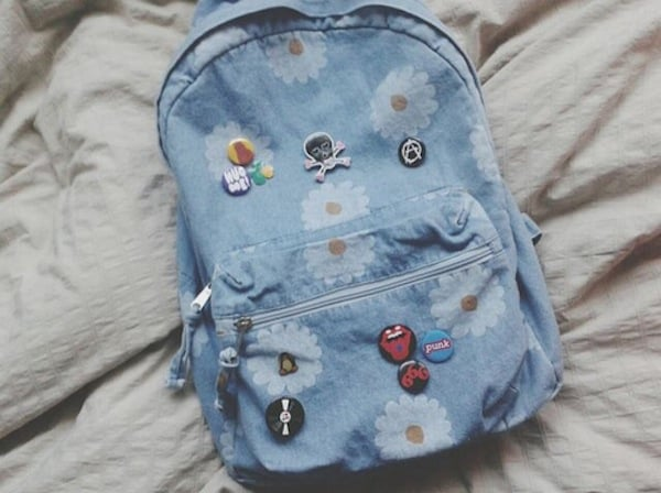 Custom enamel pin backpack