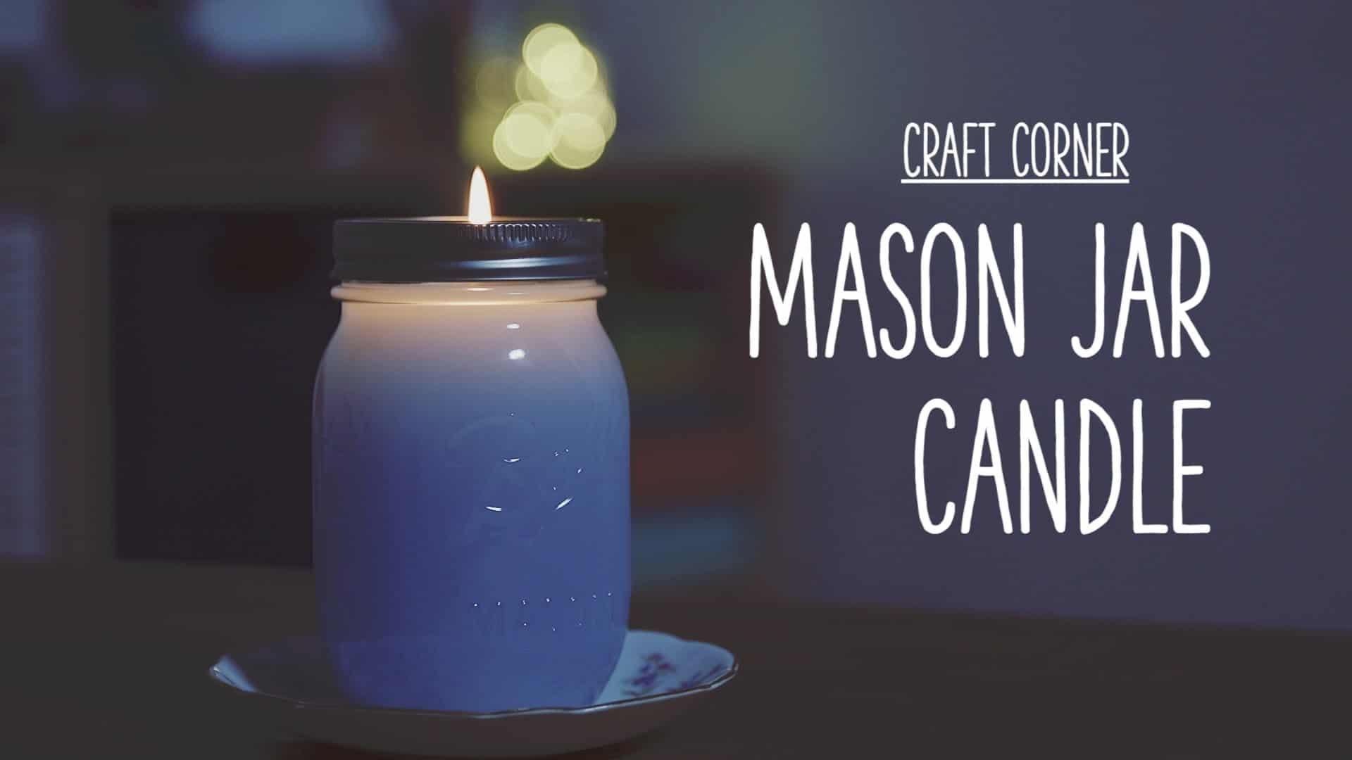 Dyed mason jar candle
