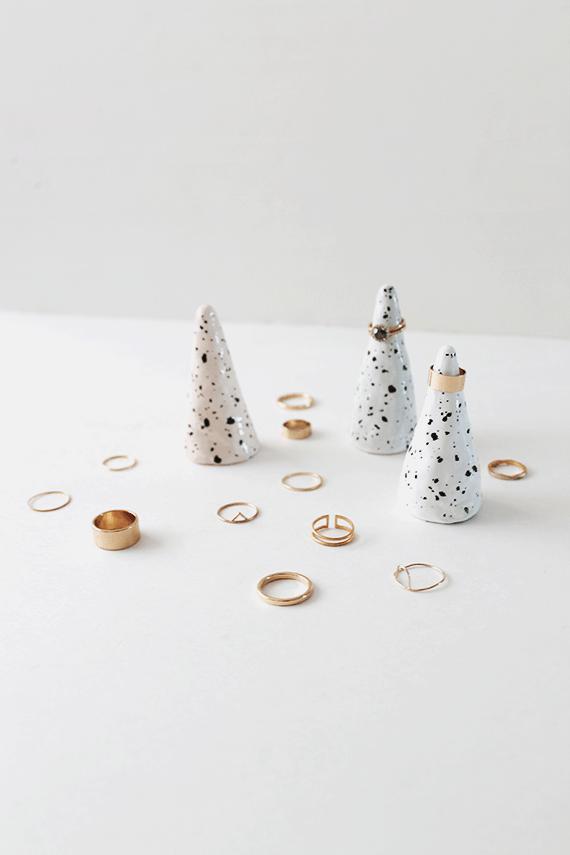 Faux ceramic ring cones