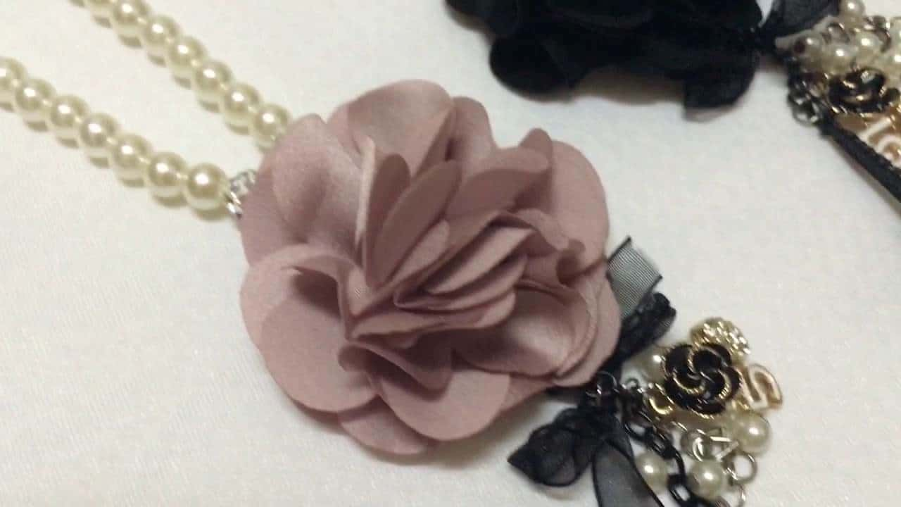 Flower and pearl charms