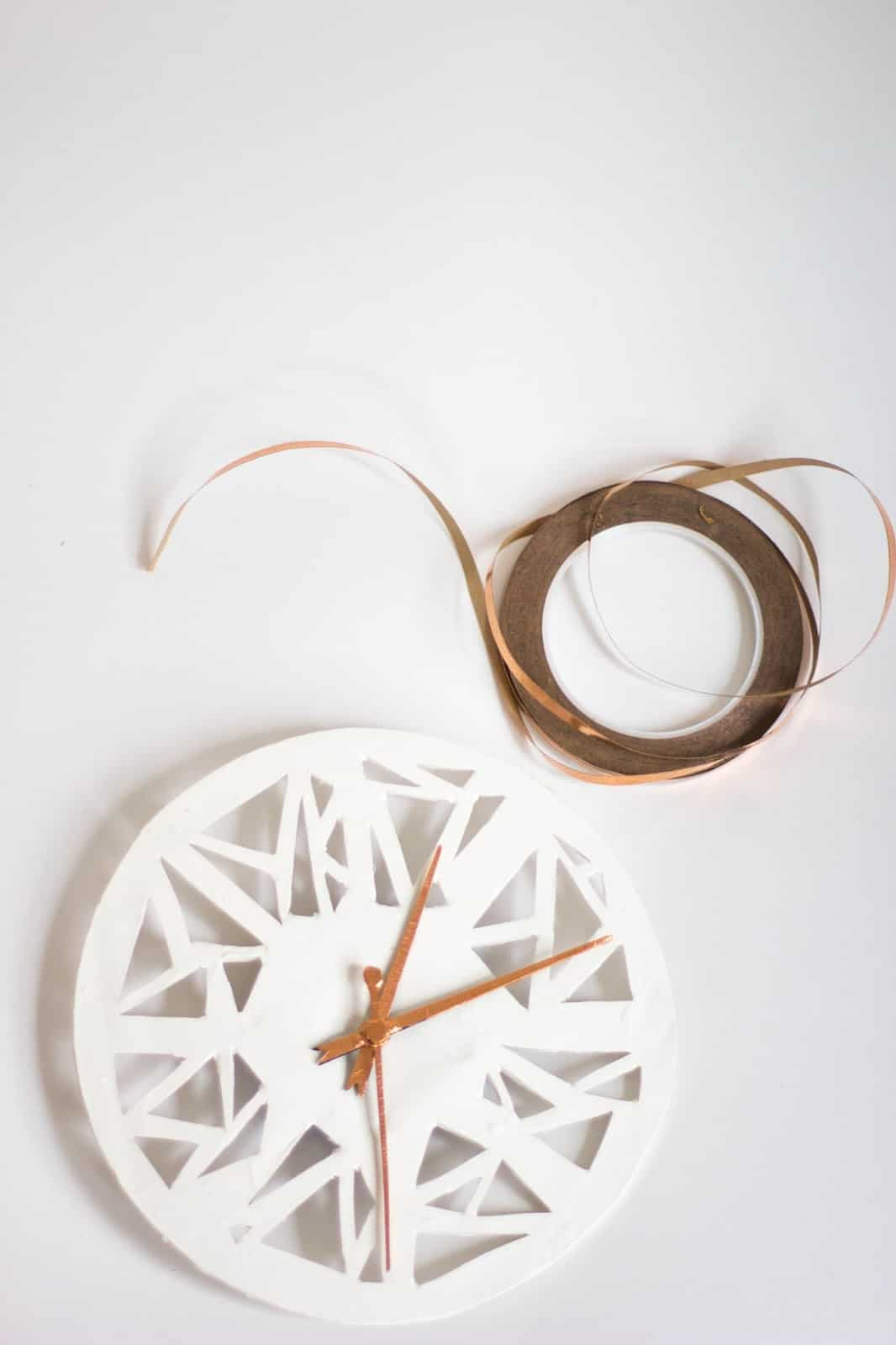 Geometric clay clock