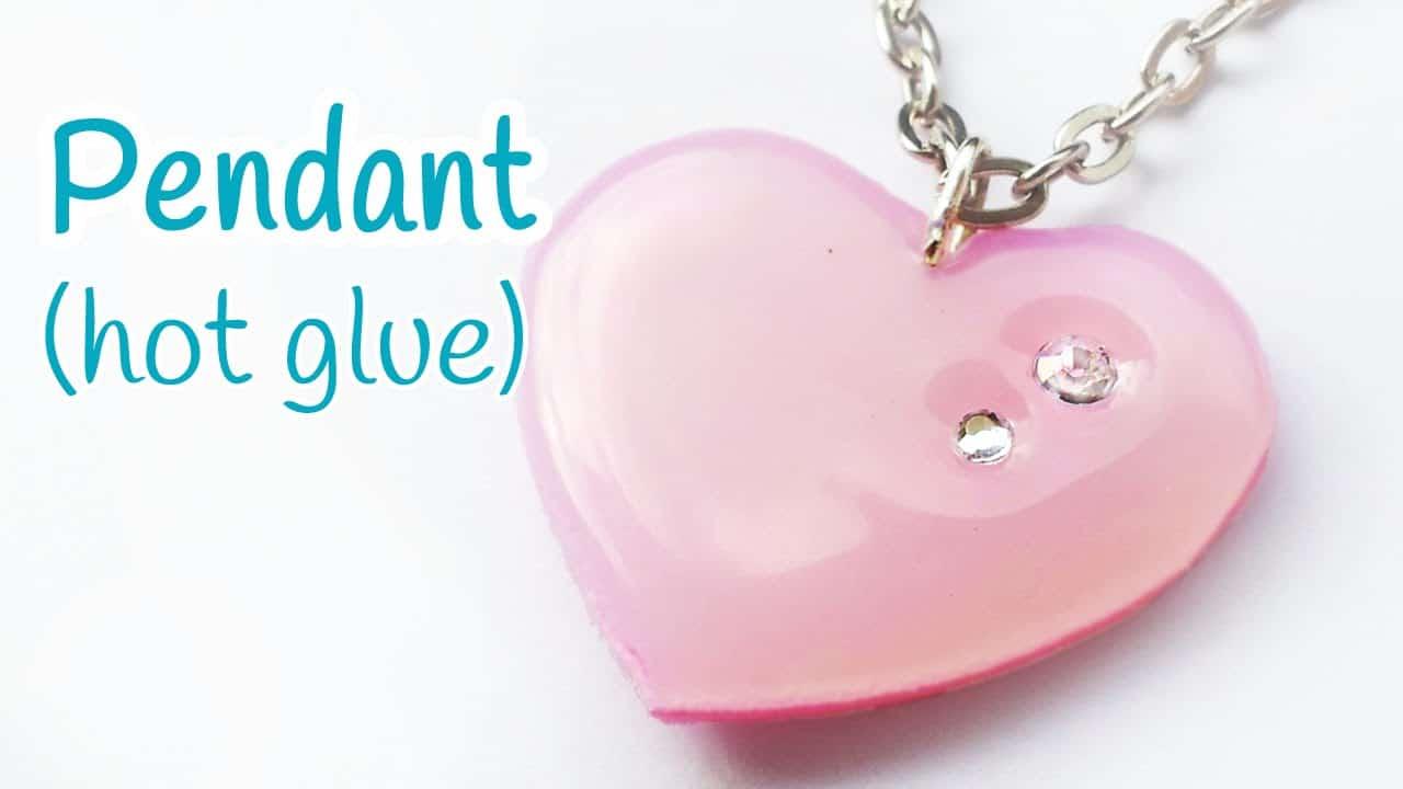 Hot glue heart pendant