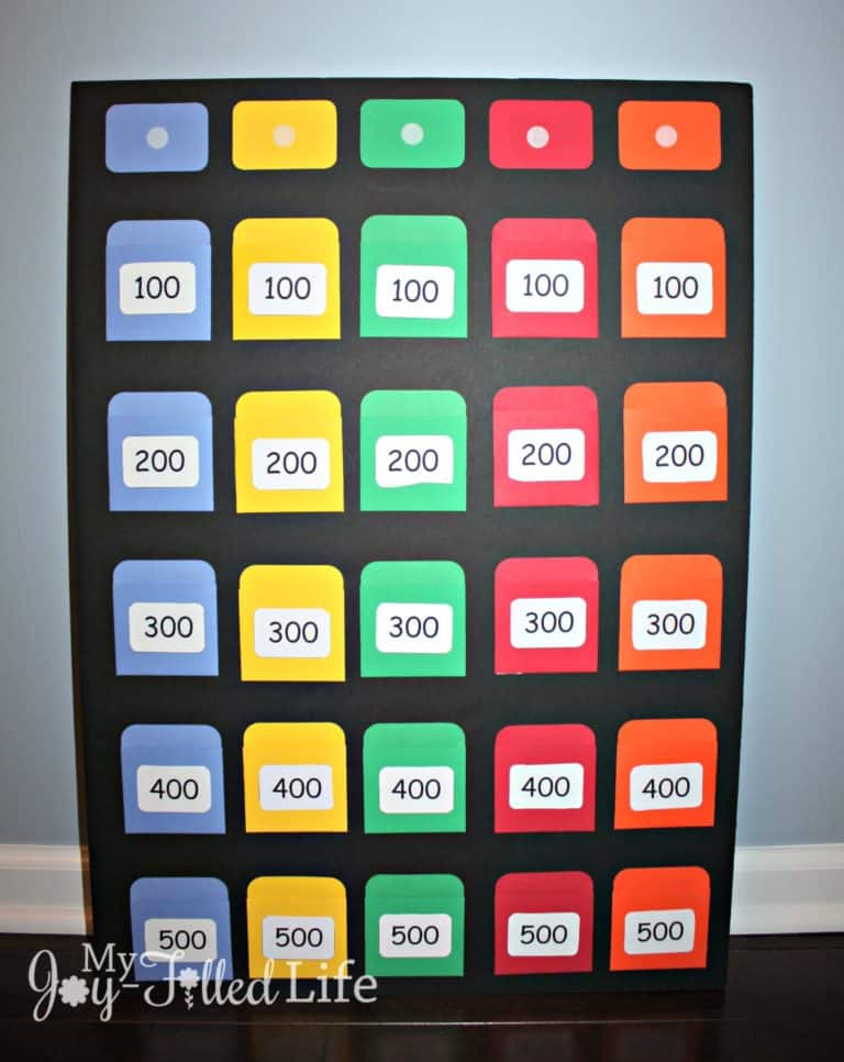 Diy board games for a fun game night jeopardy board game solutioingenieria Image collections